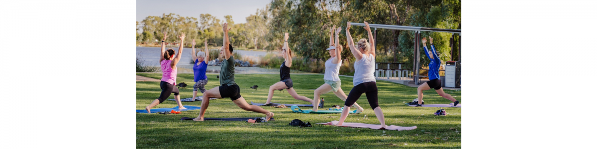 Website Banners Yoga at the Lake