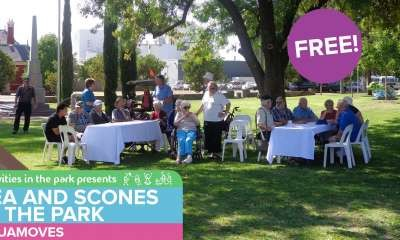 Change of venue for Tea and Scones in the Park